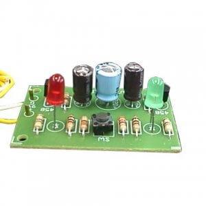 ערכת אלקטרוניקה לתלמיד – מדמה הטלת מטבע – ירוק או אדום