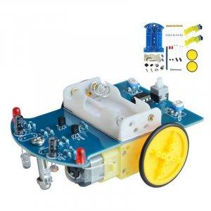 ערכת אלקטרוניקה לילדים DIY – רובוט נוסע על קו שחור דורש הלחמה