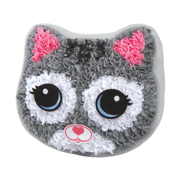ערכת יצירה הכנת כרית בד צבעונית – חתול – עשה זאת בעצמך מתנה