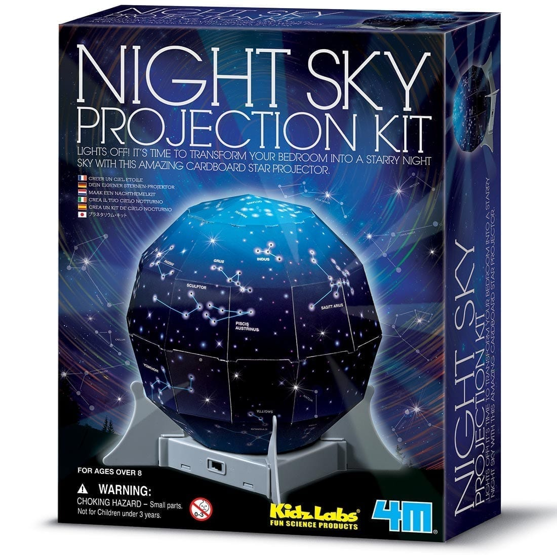 ערכת לבנייה עצמית לילדים מקרן כוכבים עם מנורת לילה