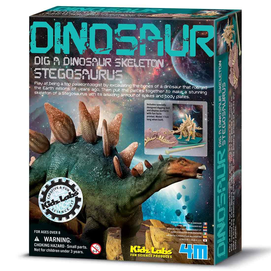 חפירת שלד דינוזאור Stegosaurus ערכת טבע ומדע