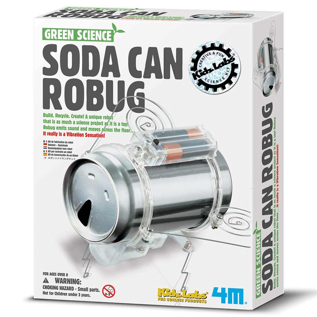 ערכת לבניה עצמית – רובוט חרק מפחית שתיה