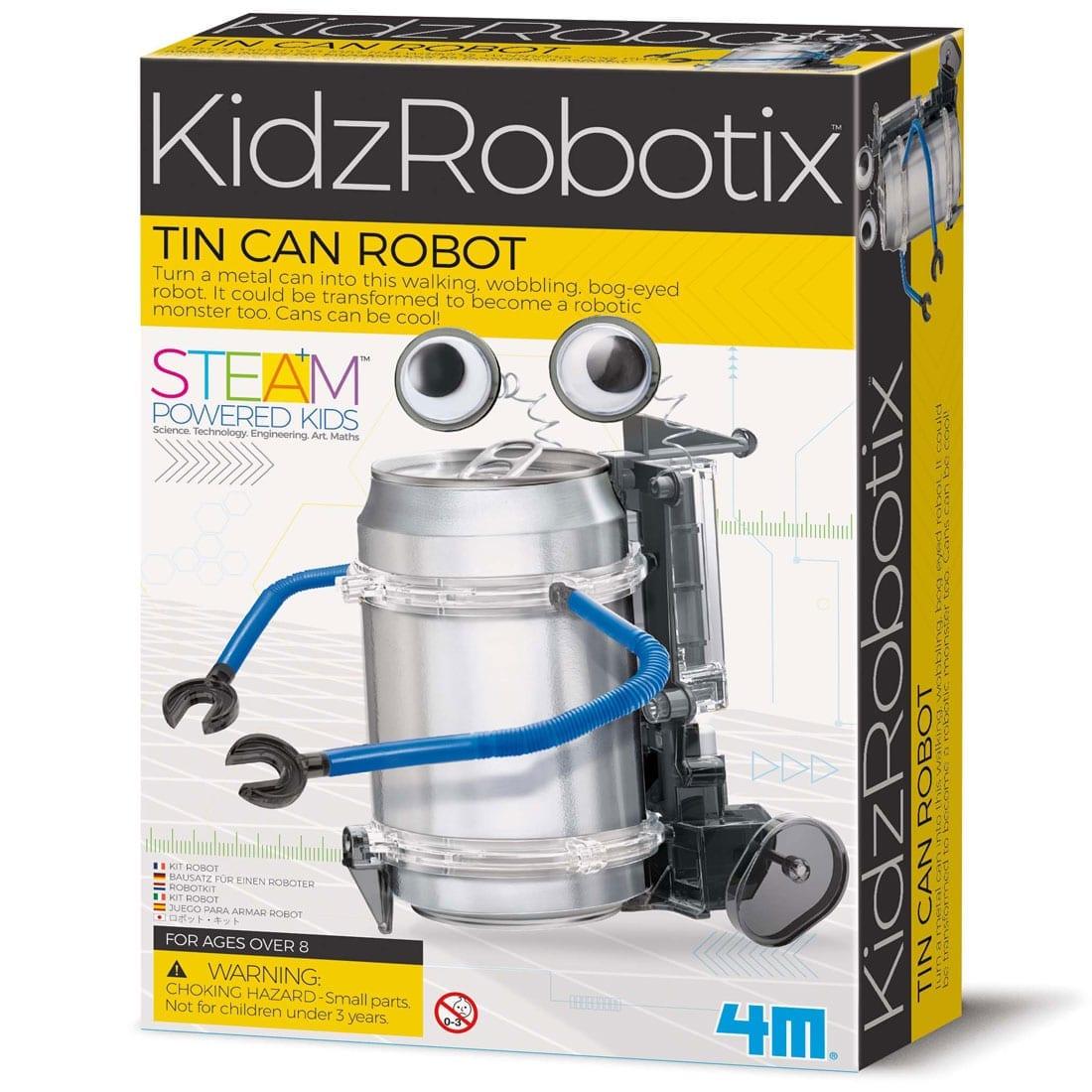 ערכת בניה לילדים רובוט מפחית שתיה 4M
