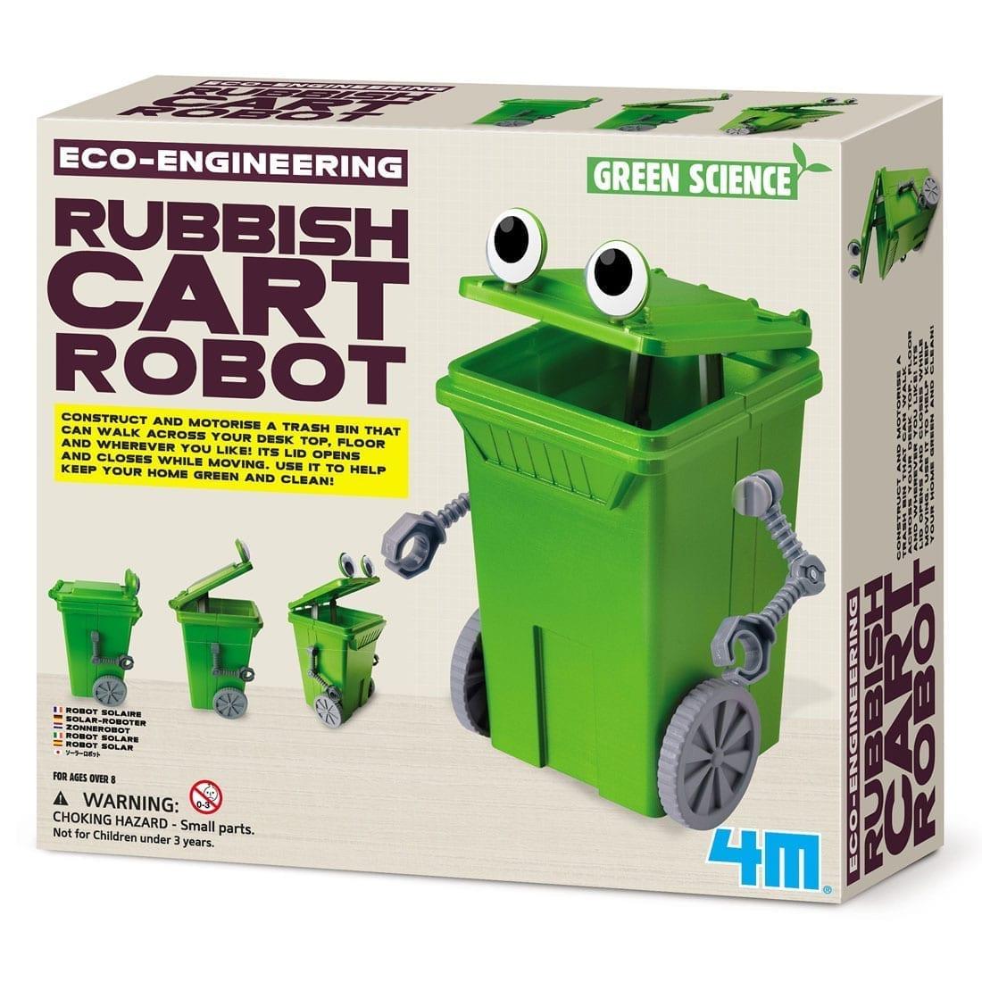 ערכה לבנייה רובוט עגלת אשפה מגניב DIY קיט מהנה לילד 4M