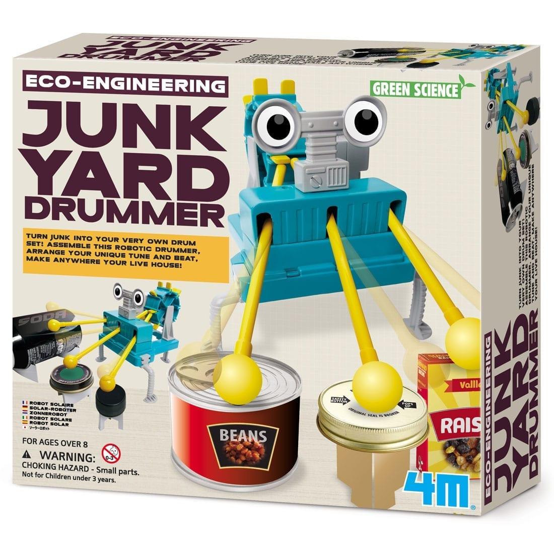 ערכה לבנייה רובוט מגניב מתופף המזבלה DIY קיט מהנה לילד 4M
