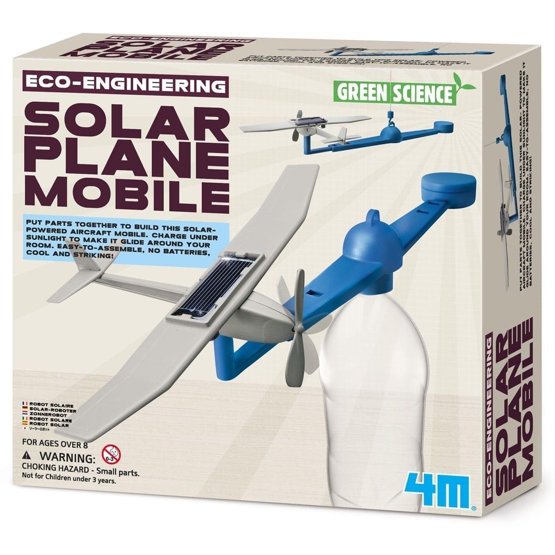 ערכה לבנייה מטוס סולארי נייד מגניב DIY לילד 4M