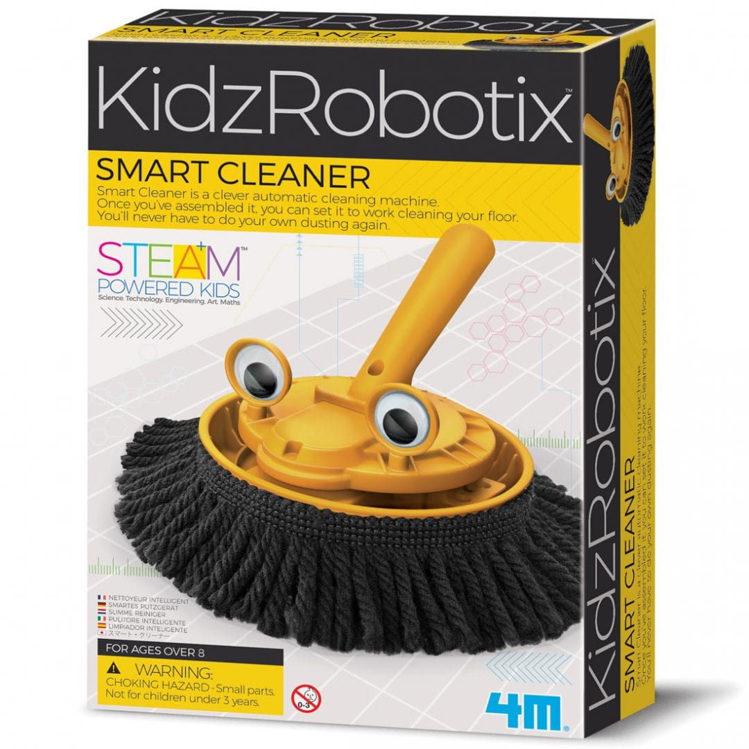 ערכה לבניה עצמית לילדים רובוט חכם מנקה מבית 4M