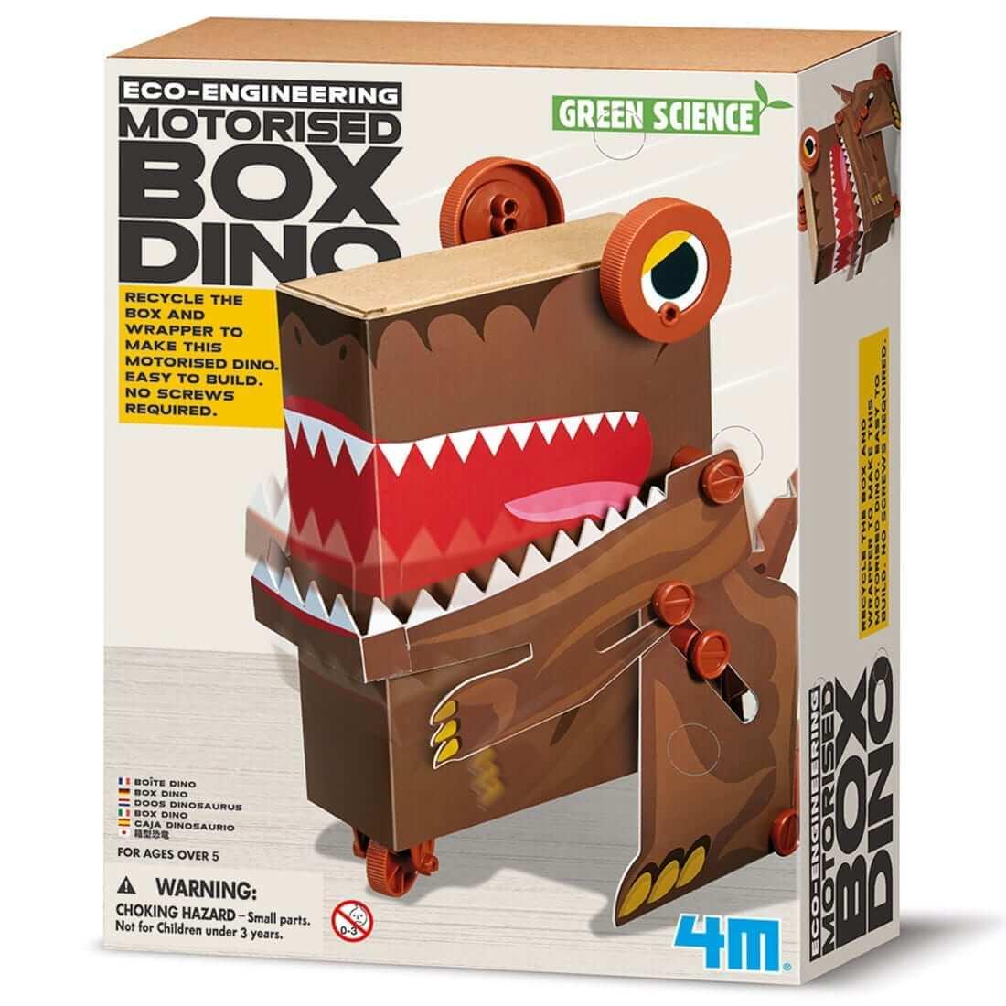 ערכת יצירה אקולוגית לילדים – רובוט דינוזאור קופסא