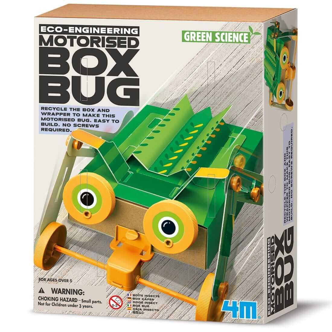 ערכת יצירה לילד – רובוט חרק קופסא קופץ רוקע ונוסע