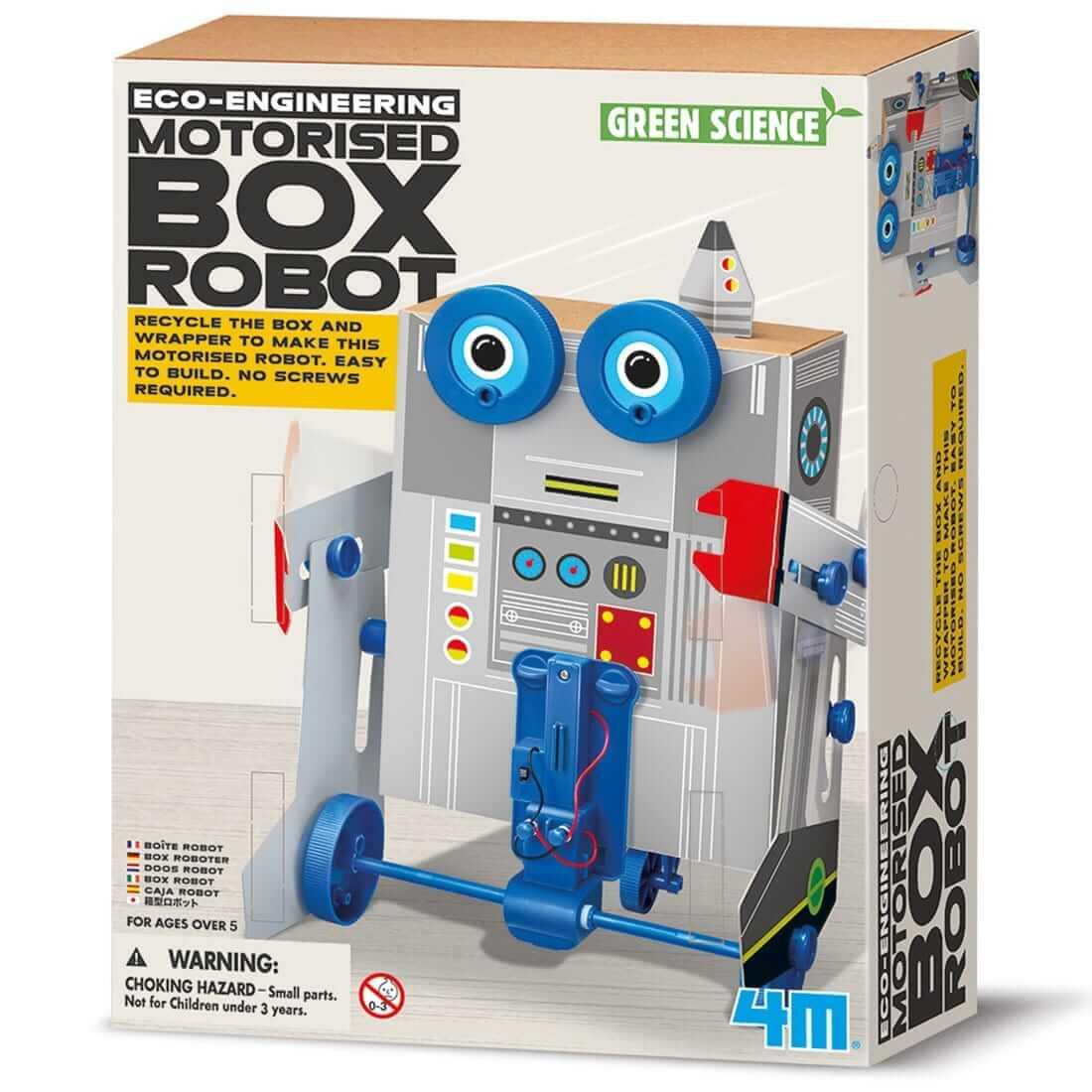 ערכת יצירה אקולוגית – רובוט קופסא קופץ רוקע ונוסע