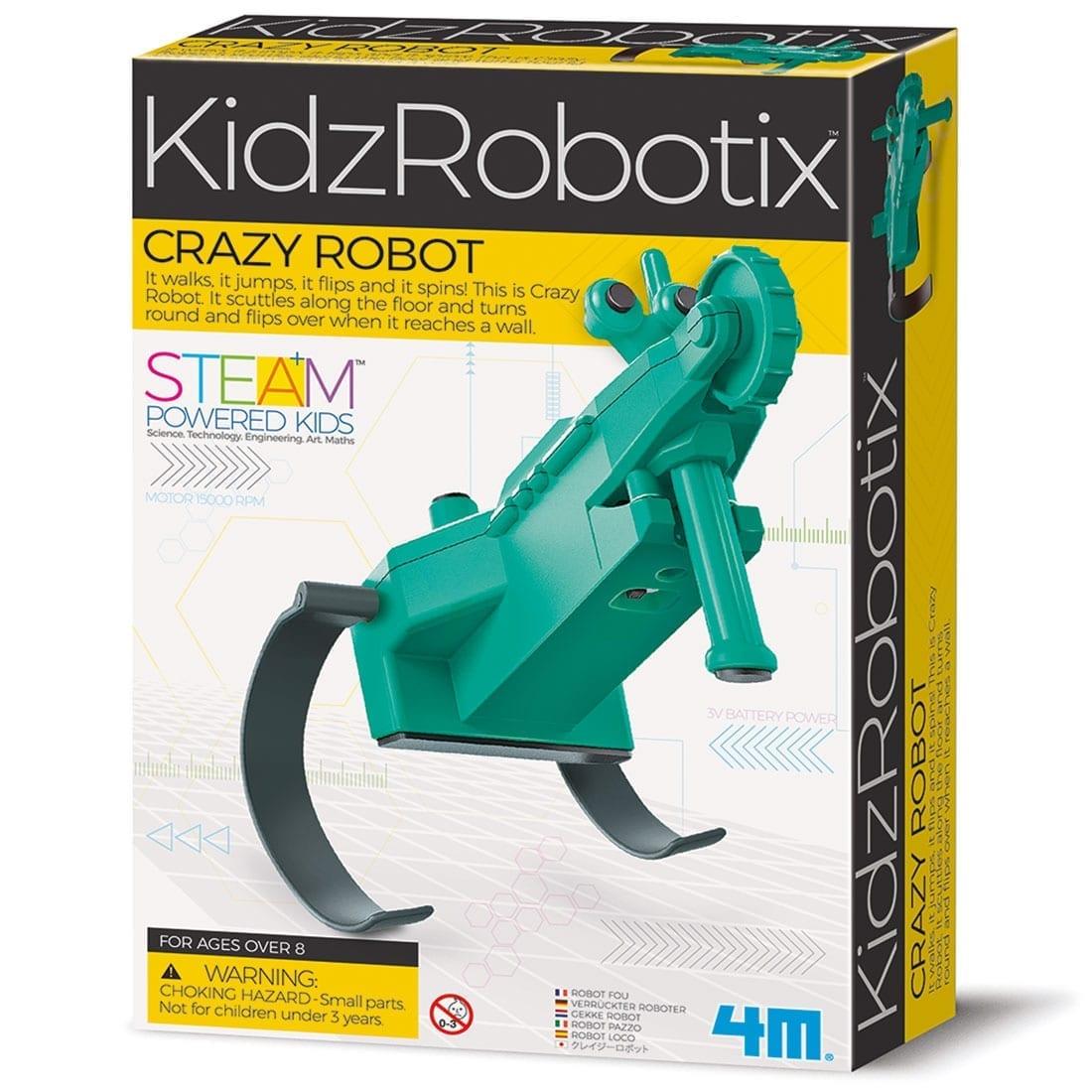 ערכת יצירה ובניה עצמית לילד רובוט משוגע מבית 4M
