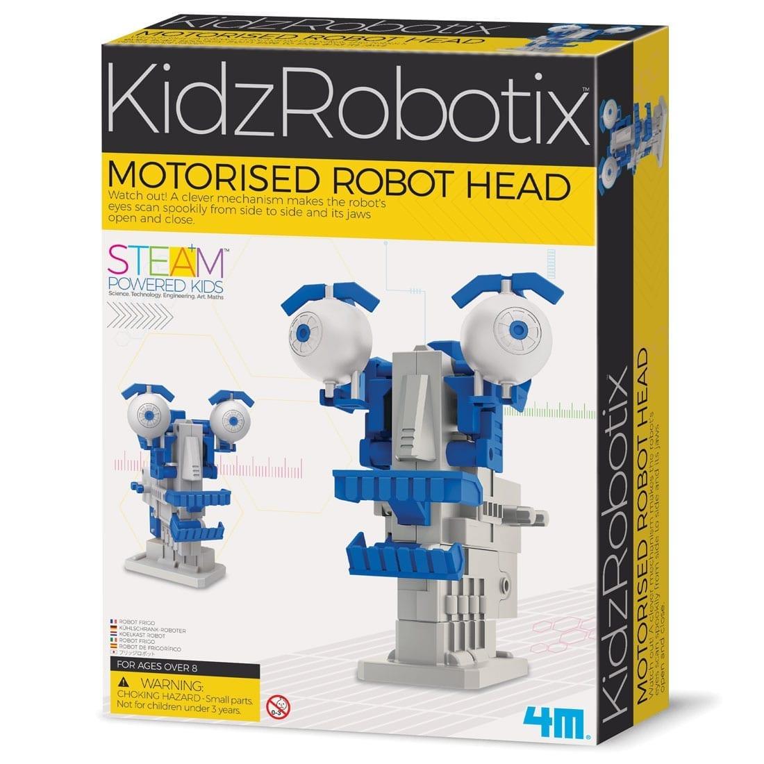 ערכת רובוטיקה לילדים בניה עצמית ראש רובוטי ממונע