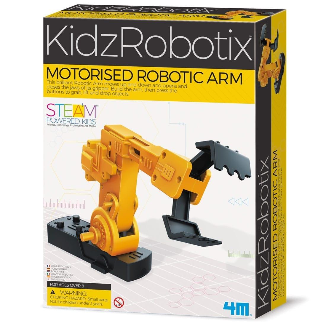 זרוע רובוטית ממונעת 4M קיט לבניה עצמית שליטה באמצעות כפתורים