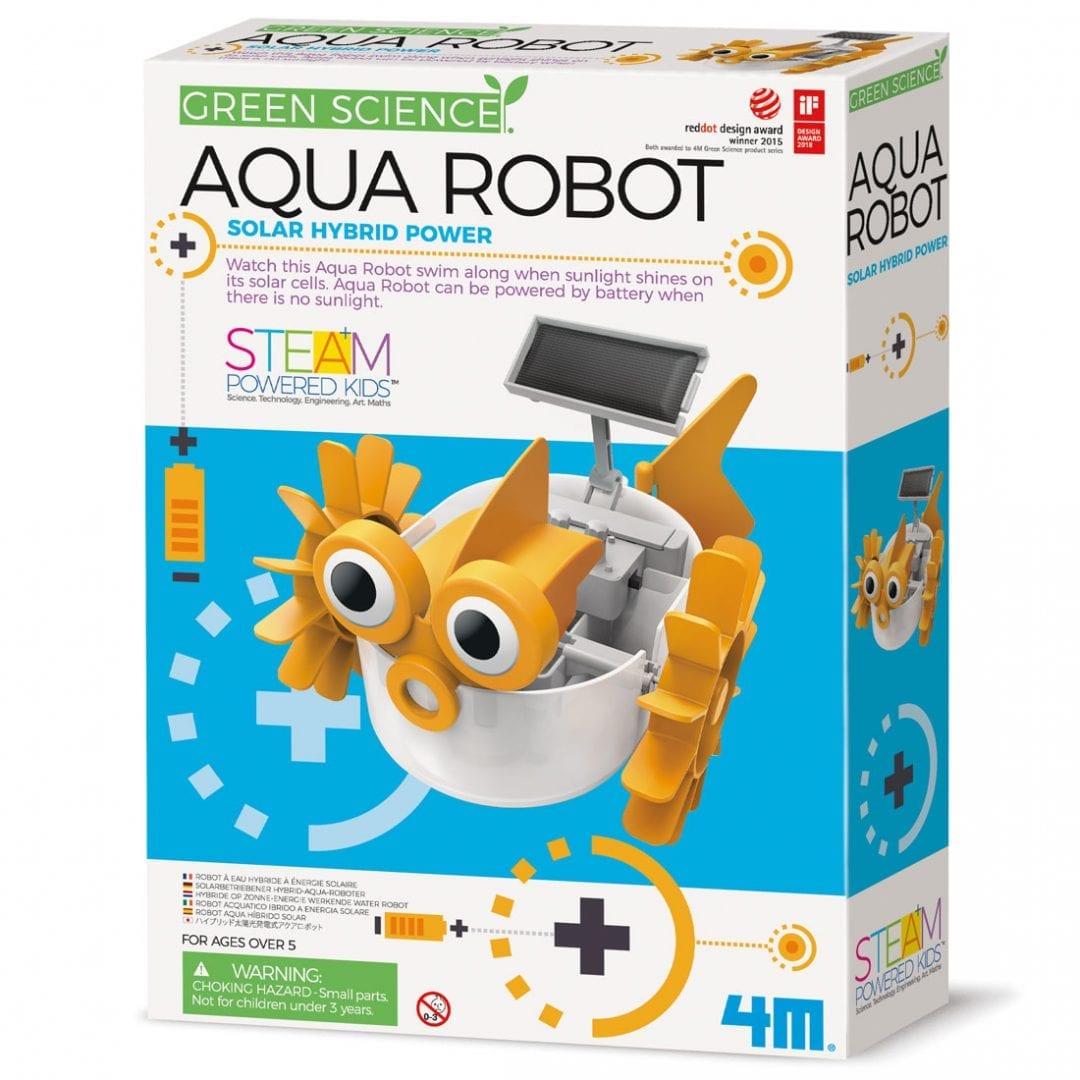 ערכת בניה לילדים רובוט מים היברידי סולארי או סוללות