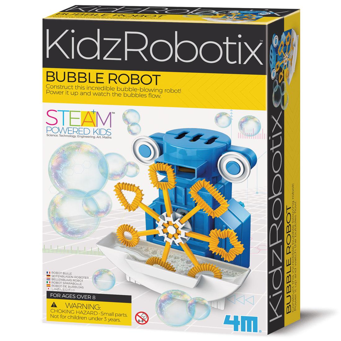 קיט בניה לילדים רובוט בועות – ערכה מדהימה בית 4M