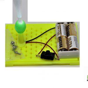ערכת מדע מעגל חשמלי לתלמיד אורות פייבר אופטיקה צבעוניות
