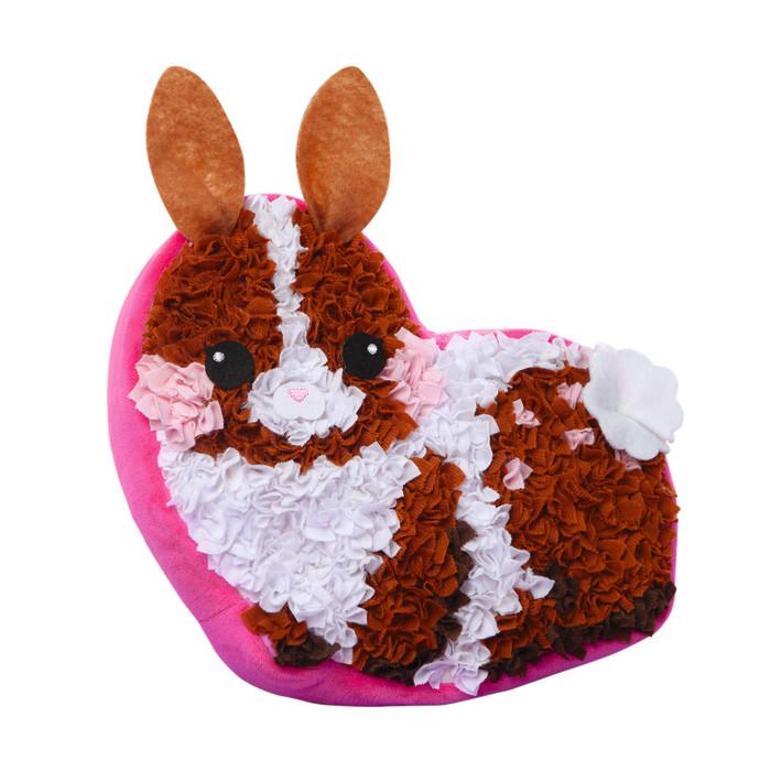 ערכת יצירה הכנת כרית בד צבעונית – ארנב – עשה זאת בעצמך מתנה