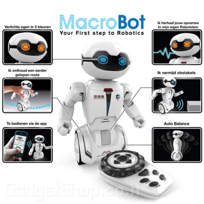 רובוט אינטרקטיבי מקרובוט + שלט – חיישן – מקליט – מעקב ועוד…