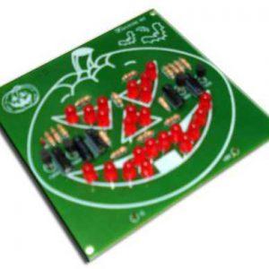 קיט אלקטרוניקה – פרצוף דלעת – לוח מודפס גדול ונוח להלחמה