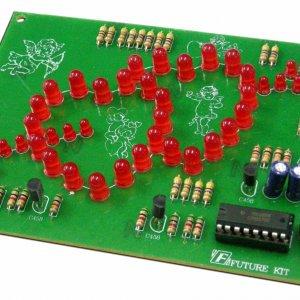 קיט אלקטרוניקה הלחמה – לב כפול עם חץ – מהבהב 50 נורות לד