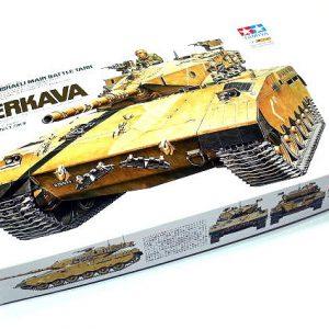 מודל הרכבה לילד טנק מרכבה של צהל ישראל עם מקלען ותת מקלע דגם TAMIYA 1/35