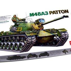 מודל הרכבה טנק M48A3 PATTON פטון צבא ארהב דגם TAMIYA 1/35