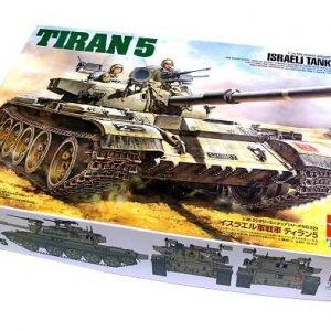 מודל הרכבה לילד טנק רוסי טירן 5 של צהל ישראל דגם TAMIYA 1/35