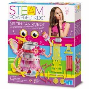העצמה לילדים ערכת מדע ויצירה- בניית רובוט פחית מתהלכת ומתנדנדת  4M
