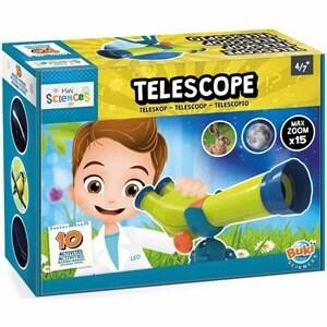 טלסקופ דו עיני לילדים מגיל 4 ומעלה משחק מדע נפלא – BUKI