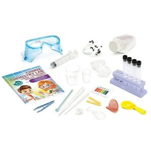 מעבדת ניסויים ביתית בכימיה לילדים ונוער עם 75 ניסויים שונים מבית BUKI צרפת