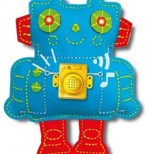 אמנות התפירה- ערכת מדע ויצירה לילדים  – רובוט מעגל חשמלי  4M