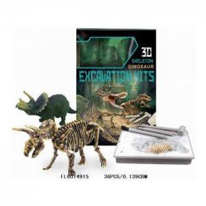 ערכת חפירה ארכיאולוגיה זוהרת בחושך 3D דינוזאורים Stegosaurus