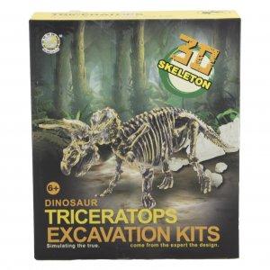 חפירת שלד דינוזאור Triceratopsערכת טבע ומדע