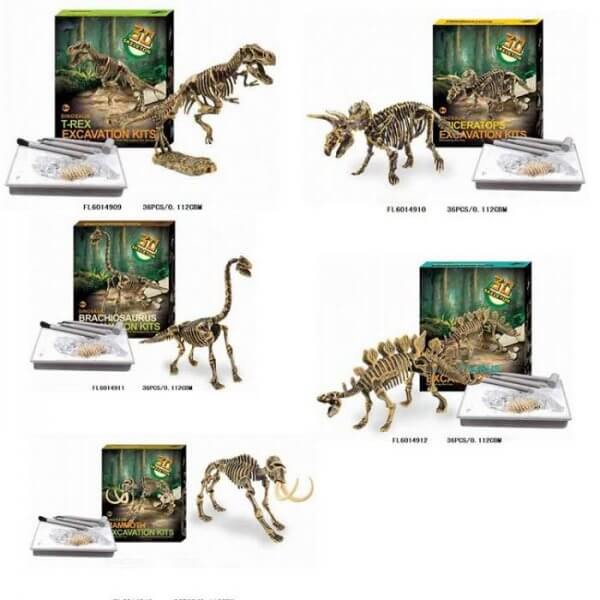 חפירת שלד דינוזאור Brachiosaurus ערכת טבע ומדע