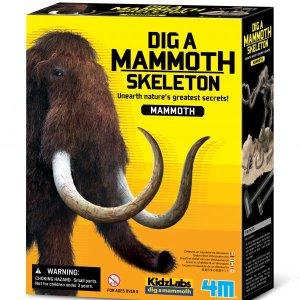 חפירת שלד דינוזאור Mammoth ערכת טבע ומדע מבית 4M