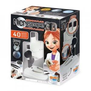 ערכת מדע מיקרוסקופ דו עיני 3D לילדים הכוללת 40 ניסויים מגוונים – בוקי