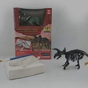 שלישיית דגמי דינוזאורים+שלדי דינוזאורים להרכבה