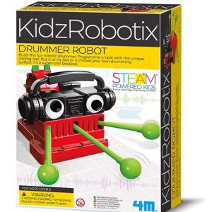 ערכת בנייה והרכבה לילדים – רובוט תיפוף לגיל 5